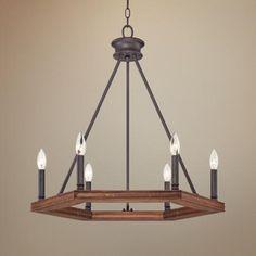 Quoizel Plantation 6-Light Dark Bronze Chandelier - #3M128 | LampsPlus.com
