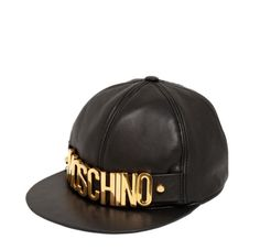 MOSCHINO Nappa Leather Baseball Hat Stili Di Acconciature Adatte Ai Cappelli 3430b9a0f4b7