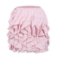 Ruffle Pleated Mini Skirt