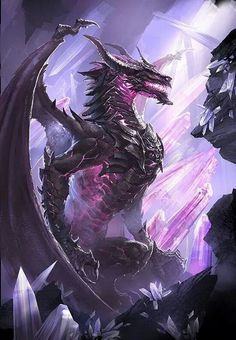 An amethyst dragon.Very strong, female is shown in picture, at the amount of crystals she has made in her den I would say that she will be giving berth soon.