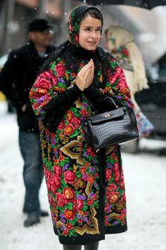Streetstyle на Неделе моды в Нью-Йорке. Часть 4:Как главные модницы мира справились с небывалым снегопадом