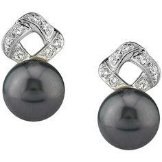 Tahitian South Sea Pearl & Diamond Charlotte Earrings