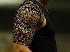 symbole polynésien dessin tatouage polinesien tahitien polynésiens epaule bras