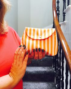 Stripes make up bag
