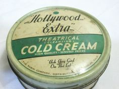 Hollywood Extra Theatrical Cleaning Cold Cream Vintage Tin | eBay