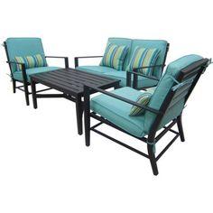 Mainstays Rockview 4-Piece Patio Conversation Set, Seats 4 - Walmart.com