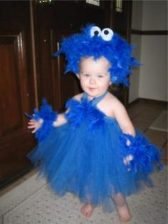 Cookie Monster Costumes/ and a Halloween costume/ flower girl dress Cookie Monster Halloween Costume, Monster Costumes, Scary Halloween, Happy Halloween, Cookie Monster Costume Toddler, Halloween 2014, Halloween Party, Best Kids Costumes, Halloween Costumes Online