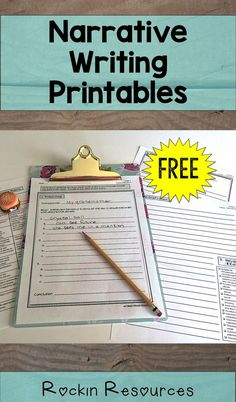 Free Narrative writing printable- paragraph and essay! Prewriting, Rough Draft, Revisions Checklist, Final Copy, and Rubric! Work On Writing, Opinion Writing, Pre Writing, Writing Workshop, Teaching Writing, Writing Activities, Teaching Ideas, Writing Ideas, Teaching Resources