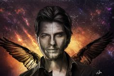 James Winchester- Sariel and Castiel by Arasiriel on DeviantArt Supernatural Fanfiction, Supernatural Fan Art, Supernatural Beings, Castiel, Virginia Woolf, Eric Kripke, The Wb, I Want To Cry, Winchester