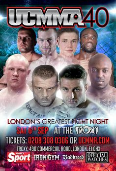 Caged FightWear have been with UCMMA since the get go, you will notice a lot of one offs produced for Dave and Fighters etc. Lets Do It, Let It Be, Iron Gym, Fight Night, Martial Arts, London, Movie Posters, Marshal Arts, Film Poster