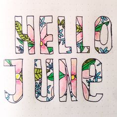 "9 Likes, 4 Comments - Bujo Magique (@bujomagique) on Instagram: ""Hello June! Hello Instagram! ⭐"""