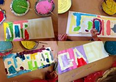 les petites têtes de l'art: Scotchons nos prénoms