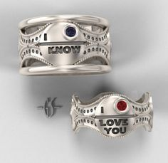 A geeky proposition star wars ring