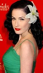 Dita Von Teese w/ flower in hair