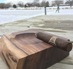 Beautiful support for a smoke! Wood cigar ashtray etsy