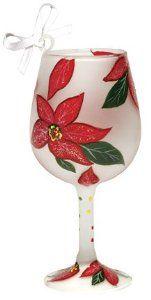 retired lolita wine glasses images   Poinsettia Mini-wine Glass Ornament by Lolita : Amazon.com : Kitchen ...
