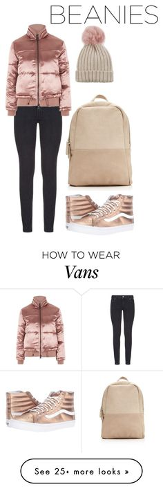 """""""cute"""" by shiningbee on Polyvore featuring Paige Denim, Topshop, Vans, Jocelyn, ootd and beanie"""