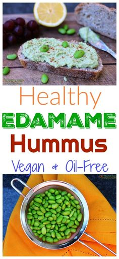 This beautifully vibrant green edamame hummus recipe is bursting with flavor! It makes a delicious dip for veggies or even a spread for sandwiches and wraps.
