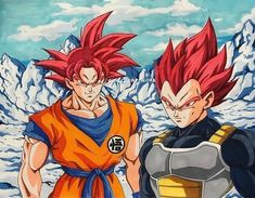 Who looks cooler ssj god Goku or ssj god Vegeta Dragon Ball Z, Broly Movie, Epic Characters, Anime One, Illustrations, Digimon, Jokers, Sketches, Animation