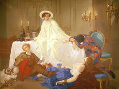 The Supper after the Masked Ball, France, 1855, by Thomas Couture.
