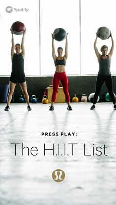 Press play. A playlist to turn up and tune into your training program.