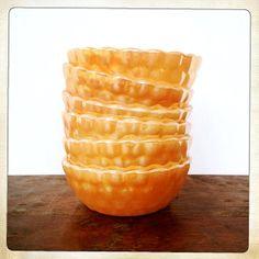 vintage Fire King Peach Lustre Bubble bowls by amysvintagedecorium, $36.00