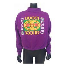 Vintage 80s Rare Gucci Logo Pullover Sweatshirt  by LittleLoco