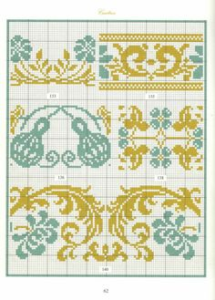 Borders in cross stitch 31 Cross Stitch Geometric, Cross Stitch Borders, Cross Stitching, Cross Stitch Embroidery, Embroidery Patterns, Hand Embroidery, Cross Stitch Patterns, Motifs Blackwork, Palestinian Embroidery