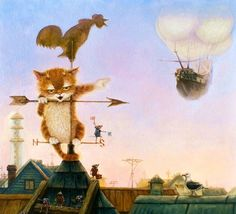 Cat & Mice art by Alexander Maskaev, born 1959.
