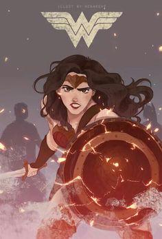 Gal Gadot Wonder Woman by Renareveillust