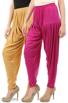 Ethnic Bottomwear - Patiala Pants  Trendy Women Dhoti Patiala Pants Combo (Pack Of 2) Fabric: Cotton Viscose Size: XL - 34 in  XXL - 36 in  Length: Up To 40 in Type: Stitched Description: It Has 2 Pieces Of Women's Dhoti Patiala Pant Pattern: Solid Country of Origin: India Sizes Available: XL, XXL, XXXL, 4XL, 5XL   Catalog Rating: ★4 (498)  Catalog Name: Trendy Women Dhoti Patiala Pants Combo CatalogID_820154 C74-SC1018 Code: 853-5495960-168