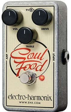 A great-sounding alternative to Klon Centaur with a nice price tag! - http://www.99pedalboards.com/project/electro-harmonix-soul-food-overdrive/