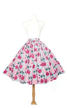 Jenny Skirt in Mary Blair Lips and Roses Print in Pink