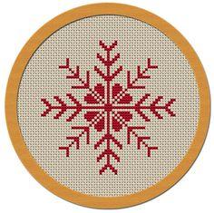 Holiday Snowflake Cross Stitch Pattern PDF File by Atinyshop
