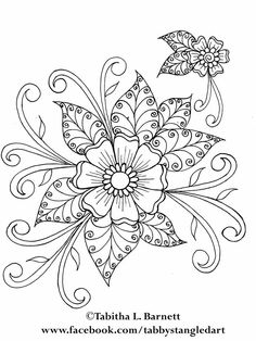 Henna Kunst Malvorlagen - Amazing Coloring Pages- Beste druckbare: Henna Kunst Malvorlagen Embroidery Flowers Pattern, Hand Embroidery Tutorial, Paper Embroidery, Embroidery Transfers, Hand Embroidery Designs, Flower Patterns, Flower Designs, Embroidery Sampler, Modern Embroidery