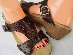 Dansko women sandals size 41 / 10.5 brown Leather #Dansko #PlatformsWedges #Casual