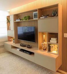Living Room Wall Units, Living Room Tv Unit Designs, Home Living Room, Modern Tv Room, Modern Tv Wall Units, Modern Living, Built In Tv Wall Unit, Modern Tv Cabinet, Minimalist Living