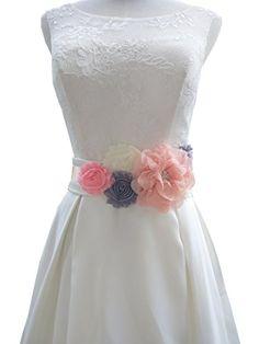 Flowers maternity sash wedding sashes romantic flowers sa…