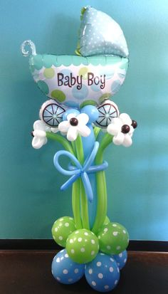 decoración con globos para baby shower30