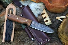 Bushcrafter HC Knife Made in USA High carbon steel, convex grind, two-step patina, and all for a great price! via BuyDirectUSA.com