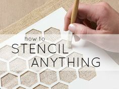 Learn how to stencil anything, including home wall decor, fabric, glass, patterns/designs and more