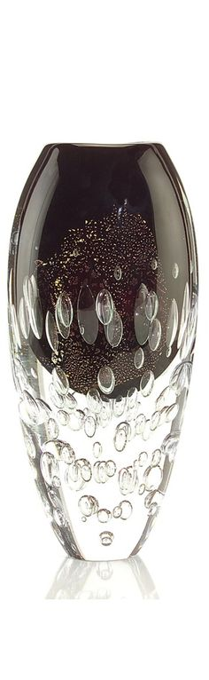 Black Bubble Art Glass Vase, so beautiful, one of over 3,000 limited production interior design inspirations inc,   furniture, lighting, mirrors, tabletop     accents and gift ideas to enjoy repin and share at InStyle Decor Beverly Hills Hollywood Luxury Home Decor enjoy & happy pinning