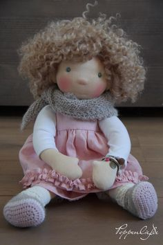 Waldorf doll - beautiful! That beautiful hair!