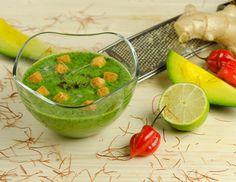 Rezept für Avocado-Chili-Buttermilch Suppe