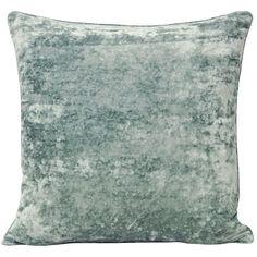 Cliveden Velvet-Effect Cushion Cover, Duck Egg