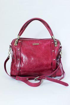 Rebecca Minkoff Cupid Fresia Pink Leather Top Handle Bag
