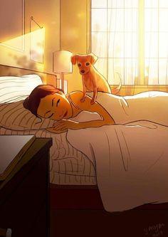 "his-shining-tears:  "" Living With The Pet.  Artist Yaoyao Man Van  """