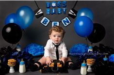 Baby Birthday Pictures, Boys 1st Birthday Party Ideas, Boss Birthday, Baby First Birthday, Baby Cake Smash, Boss Baby, Baby Party, Birthdays, Baby Shower