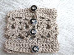 """Manchette collection """"intemporel"""" en 100 % coton : Mitaines, gants par la-maille-aux-tresors"""