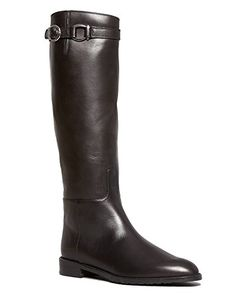 Made in Spain. Elasticized gore at side. Tall Leather Boots, Black Leather, Pointed Toe Flats, Stuart Weitzman, Designer Shoes, Amazing Women, Rubber Rain Boots, Riding Boots, Take That